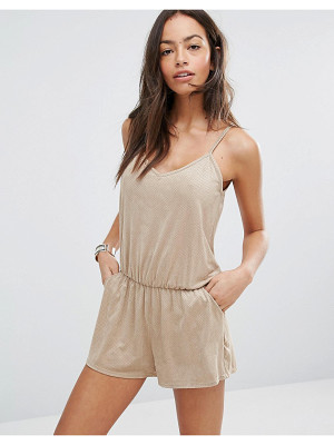 SURF GYPSY Faux Suede Beach Romper