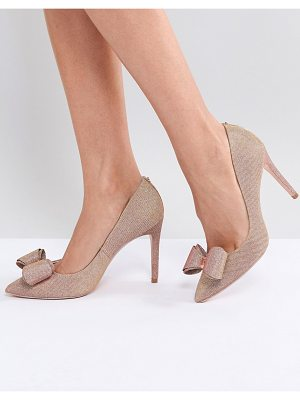 Ted Baker Azeline Rose Gold Sparkling Heeled Pumps