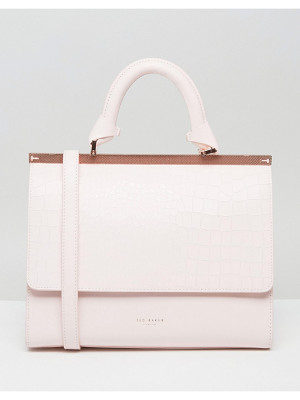 TED BAKER Textured Bar Top Handle Tote