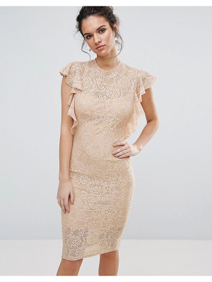 TFNC Lace Midi Dress With Frill Detail
