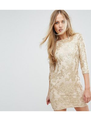 TFNC Mini 3/4 Length Sleeve Sequin Dress