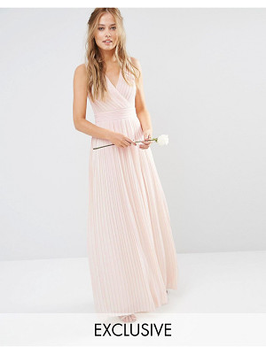 TFNC Pleated Wrap Maxi Bridesmaid Dress