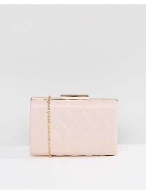 True Decadence Blush Quilted Box Clutch Bag
