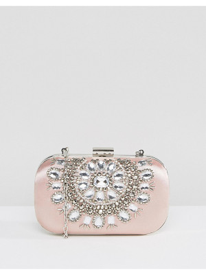 TRUE DECADENCE Embellished Oval Hard Clutch Bag