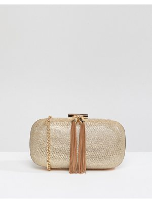 TRUE DECADENCE Glitter Clutch Bag With Tassel Detail