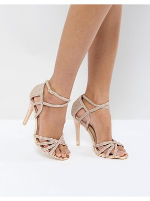 True Decadence metallic heeled sandal