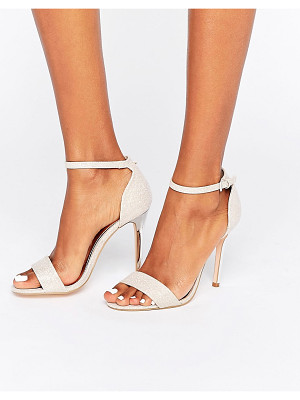 True Decadence pink glitter barely there heeled sandals