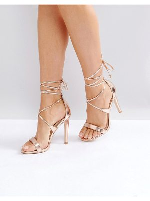 True Decadence tie up heeled sandals