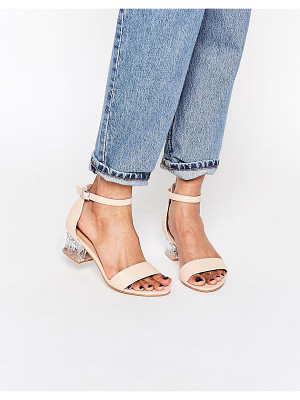 Truffle Collection Clear Heel Strap Sandal