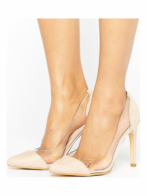 TRUFFLE COLLECTION Clear Upper Heel Shoe
