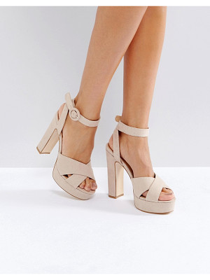 TRUFFLE COLLECTION Cross Strap Platform Sandals
