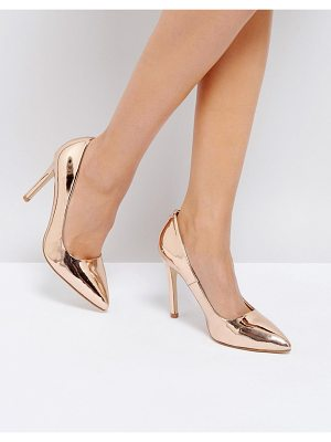 TRUFFLE COLLECTION Metallic Point High Heels