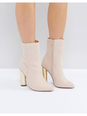 Truffle Collection Metallic Heeled Ankle Boots