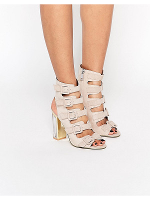 Truffle Collection Multi Buckle High Heeled Sandal