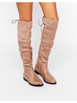 TRUFFLE COLLECTION Over The Knee Flat Boots