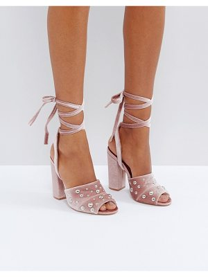 Truffle Collection Pearl Stud Heeled Sandals
