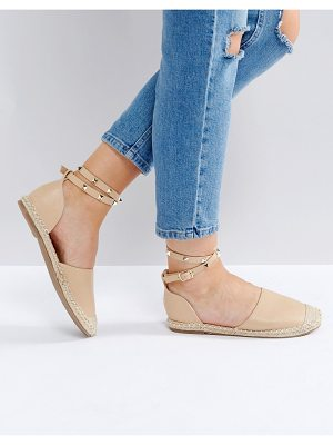 TRUFFLE COLLECTION Stud Ankle Espadrilles