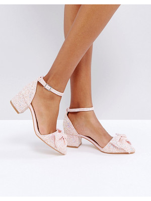 Truffle Collection Bow Kitten heel Shoe