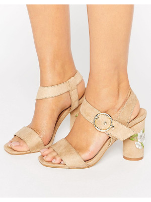 TRUFFLE COLLECTION Truffle Colleciton Embroidery Heel Sandal