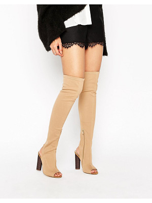 Truffle Collection Truffle Peep Toe Over The Knee Boot