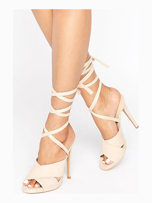 Truffle Collection Truffle Tie Ankle Rita Heeled Sandals