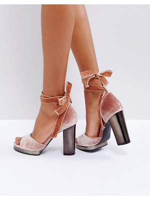 TRUFFLE COLLECTION Tie Up Slim Platform Sandal