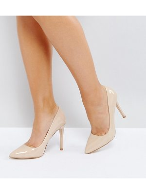Truffle Collection Wide Fit Heel Court Shoe