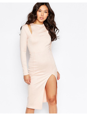 Twin Sister Cut Out Shoulder Midi Dress