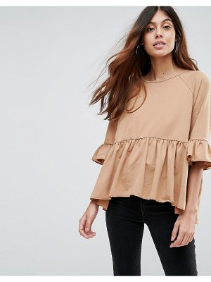 VERO MODA Sweat Peplum Top