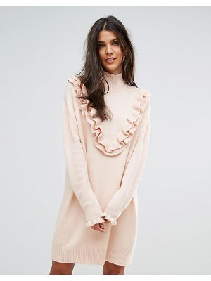 VERO MODA Sweater Dress With Ruffle Detail