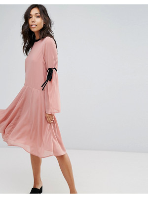 VERO MODA Tie Sleeve Skater Dress