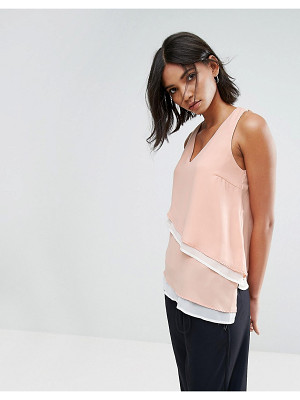 Vero Moda V Neck Top With Asymmetric Hem