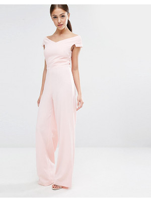 Vesper Bardot Jumpsuit With Wide Leg