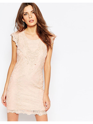Vila Cutwork Lace Bodycon Dress