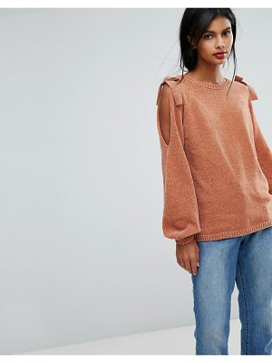 VILA Knitted Sweater With Bow Detail