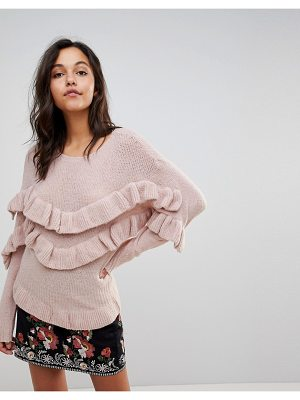 Vila Ruffle Detail Knitted Sweater