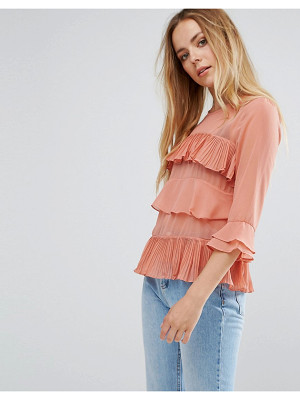 VILA Ruffle Layered Blouse