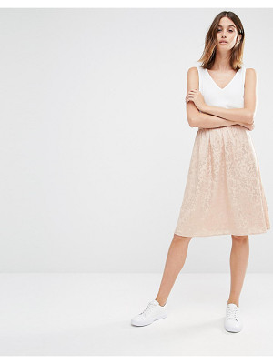 Vila Textured Midi Skirt