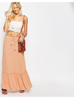 VILA Tiered Maxi Skirt