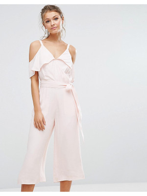 WAREHOUSE Cold Shoulder Jumpsuit