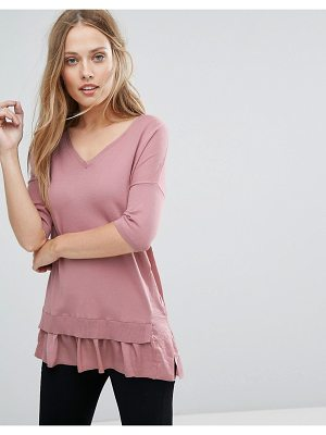 WAREHOUSE Frill Hem Sweater