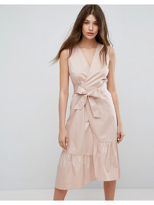 WAREHOUSE Peplum Hem Wrap Dress