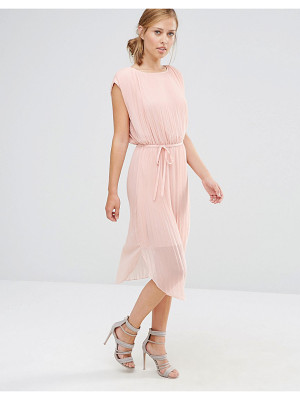 WAREHOUSE Pleated Curved Hem Dress