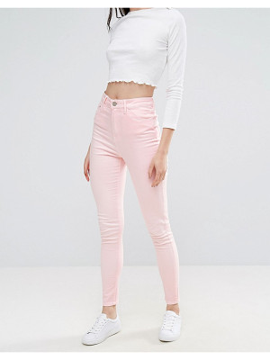 Waven Anika High Rise Pink Skinny Jeans