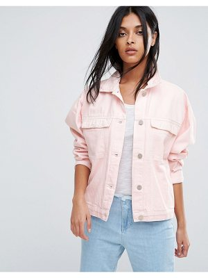 Waven Karin Pink Oversized Denim Jacket