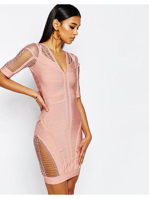 WOW COUTURE Wow Couture Bandage Body-Conscious Dress With Ladder Detail