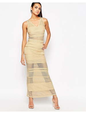 Wow Couture WOW Couture Bandage Dress With Mesh Inserts