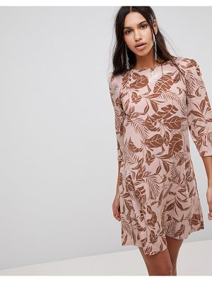 Y.A.S Fall Floral Velvet Burnout Shift Dress