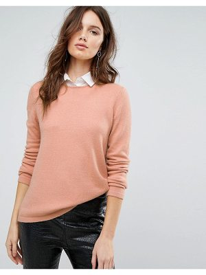 Y.a.s Knitted Sweater With Shirt Detail