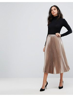 Y.a.s Metallic Pleated Skirt
